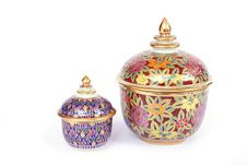 Thai Ceramic Bowl Royalty Free Stock Photography