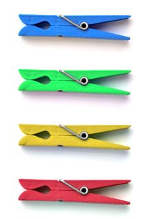 Colored Pincers Stock Photo