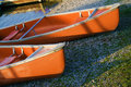 Free Canoes In The Morning Light Stock Photo - 2617880