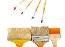 Brushes On White Background Royalty Free Stock Image