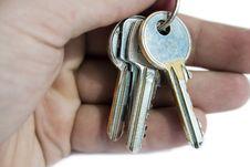Free Hand Holding Keys Stock Image - 2611581