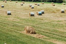 Free Straw Bales Royalty Free Stock Photos - 2612248