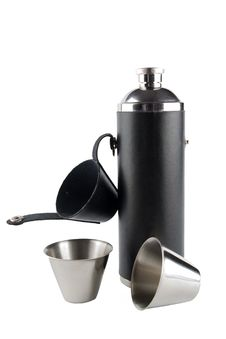 Free Flask With Two Cups Royalty Free Stock Image - 2612376