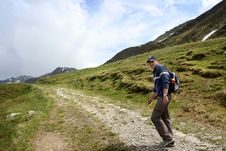 Free Hiking In Swiss Alps Stock Images - 2612634