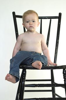 Free Boy On A Chair Stock Photos - 2613623