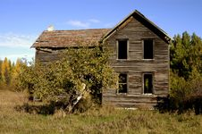 Old House On Country Road Stock Image