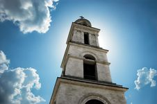 Free Sun Behind The Bell Tower Stock Photo - 2615510