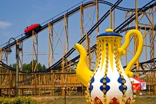 Amusement Park Rides Royalty Free Stock Photography