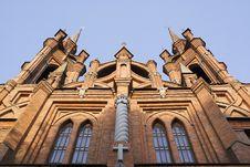 Free Catholic Church Of Red Brick Royalty Free Stock Photos - 2618348