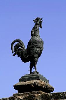 Metal Cock On Blue Sky Stock Image