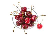 Cooled Sweet Cherries Royalty Free Stock Image