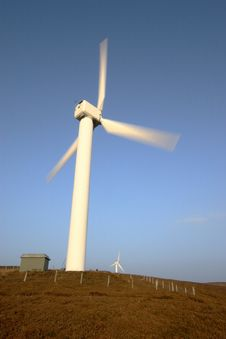 Wind Turbine In The English Lake District Stock Photos
