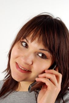 Free Phone Woman 12 Stock Image - 2618981