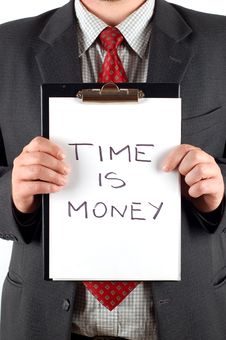 Free Time Is Money Stock Photo - 2619180