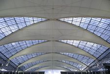 Free Metallic And Glass Roof Stock Image - 2619631