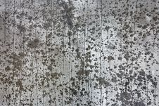 Drops On A Concrete Wall Stock Photo