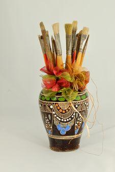 Free Paintbrushes Stock Photography - 26104382