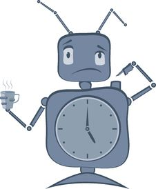 Free Robot Clock Stock Images - 26108024