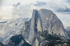 Free Clouds Over Half Dome Royalty Free Stock Photo - 26109565