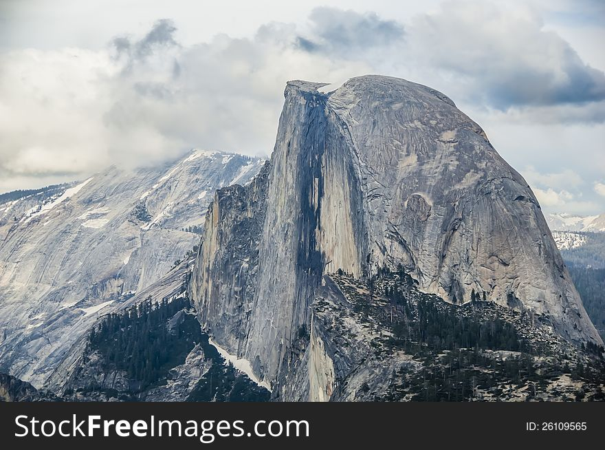 Clouds Over Half Dome