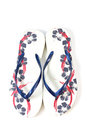 Free Pair Of A Flip Flops On White Background Stock Images - 26111794