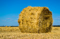 Free Farm Field With Hay Bales Stock Photos - 26114933