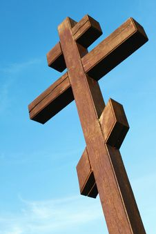 The Wooden Cross Royalty Free Stock Photography