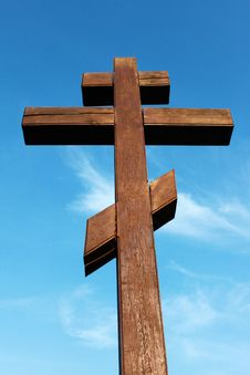 Free The Wooden Cross Stock Photos - 26110973