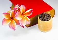 Free Coffee Beans With Red Flowers Stock Image - 26118011