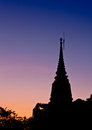 Free Silhouette View Of Buddhist Pagoda Stock Images - 26124364