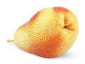 Free Ripe Red Yellow Pear Fruit On White Royalty Free Stock Photography - 26125247