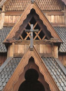 Free Close-up Details Of Norwegian Stave Church. Stock Photos - 26120713