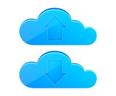 Free Cloud Computing Icon Set Royalty Free Stock Photography - 26129647