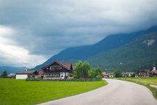 Free Road Through Apline Village Stock Image - 26129981