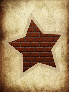 Free Brick Star Royalty Free Stock Image - 26130766