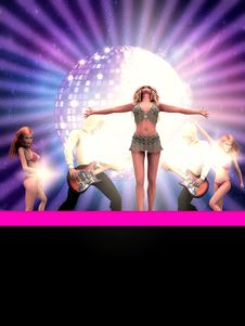 Free Dancing 3d People Royalty Free Stock Images - 26130779