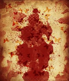 Blood Spots Royalty Free Stock Images