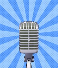 Free Retro Microphone Stock Photography - 26130952