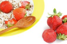 Free Healthy Breakfast With Strawberries Stock Photo - 26131420