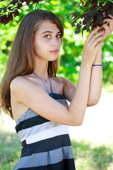 Free Girl In A Garden Royalty Free Stock Photography - 26131547