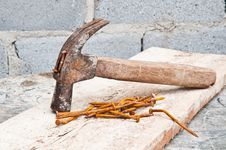Free Old Hammer Royalty Free Stock Photography - 26131867
