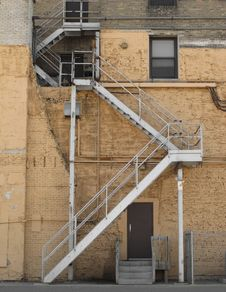 Free Outside Alley Fire Escape Stock Photo - 26135980