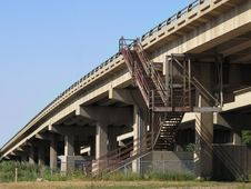 Highway Overpass And Stairs. Royalty Free Stock Photo