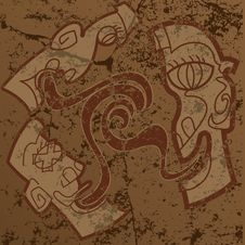 Mayan Heads Royalty Free Stock Images