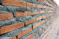 Close Up Of Brick Wall Ending In Infinity Stock Images
