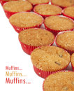 Free Muffins With Sample Text Royalty Free Stock Image - 26144036