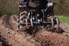 Soil Preparation For Sowing Royalty Free Stock Images