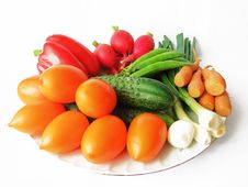 Free Fresh Ripe Vegetables On A Platter Stock Photo - 26141100