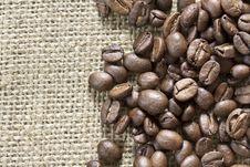 Free Coffee Beans On Sack Stock Photo - 26142370