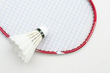 Free Badminton Racket With Shuttlecock Top Right View Stock Image - 26142501